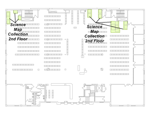 Brill Science Map Collection: 2nd Floor